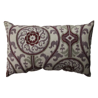 Suzani Cotton Lumbar  Pillow Color: Plum