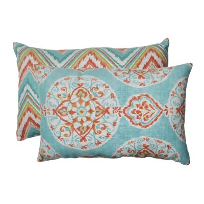 Mirage and Chevron Lumbar Pillow