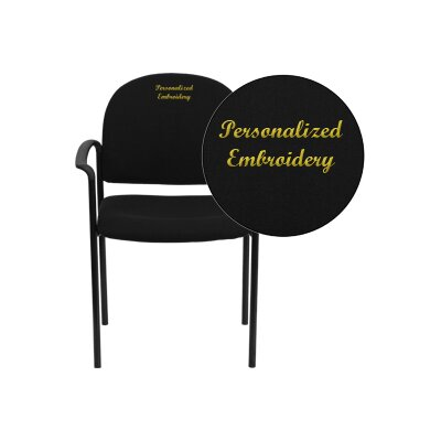 Personalized Comfortable Stackable Steel Guest Chair Seat Finish: Black, Arms: With Arms