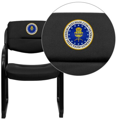 Personalized Leather Executive Side Chair