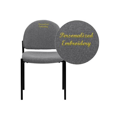 Personalized Comfortable Stackable Steel Guest Chair Seat Finish: Gray, Arms: Without Arms