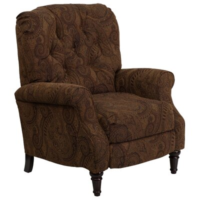 Aline Manual Recliner Upholstery: Tobacco Fabric
