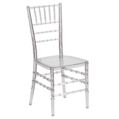 Flash Elegance Stacking Chiavari Chair (Set of 4) Finish: Crystal Ice Resin