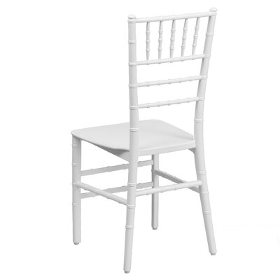 Flash Elegance Stacking Chiavari Chair (Set of 4) Finish: White Resin