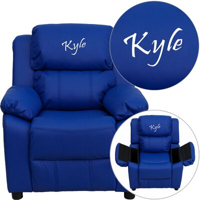 Personalized Kids Recliner Upholstery Type - Color: Vinyl - Blue