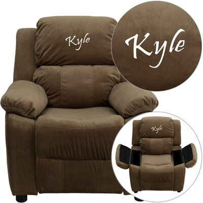 Personalized Kids Recliner Upholstery Type - Color: Microfiber - Brown image