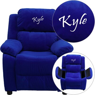 Personalized Kids Recliner Upholstery Type - Color: Microfiber - Blue image