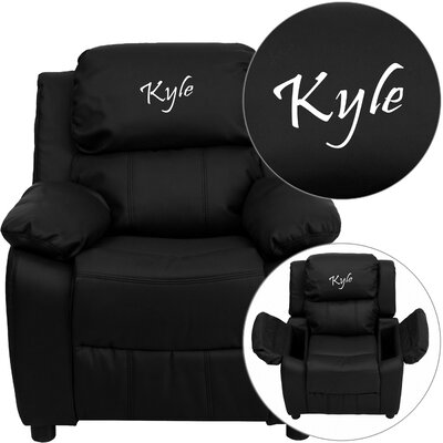 Personalized Kids Recliner Upholstery Type - Color: Vinyl - Orange image