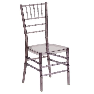 Flash Elegance Stacking Chiavari Chair (Set of 4) Finish: Crystal Smoke Resin image