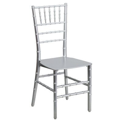 Flash Elegance Stacking Chiavari Chair (Set of 4) Finish: Silver Resin image