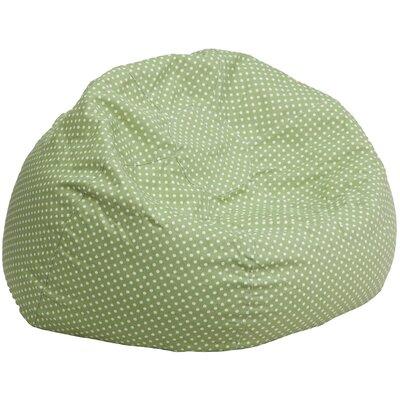 Bean Bag Chair Upholstery: Green/White