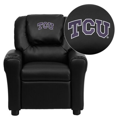 NCAA Kid's Recliner Material: Vinyl NCAA Team: Texas Christian University Horned Frogs image