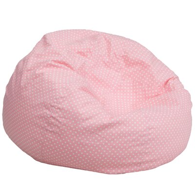 Bean Bag Chair Upholstery: Light Pink/White