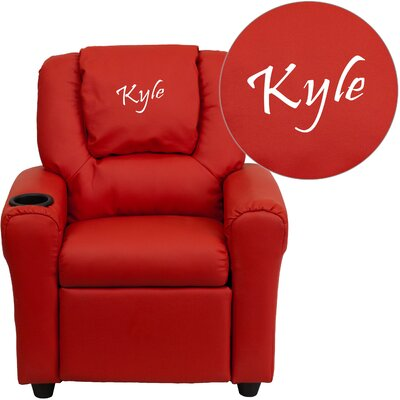 Personalized Kids Recliner Upholstery Type - Color: Vinyl - Red image