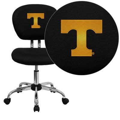 NCAA Embroidered Mid-Back Mesh Task Chair NCAA Team: Tennessee Arms: Not Included image