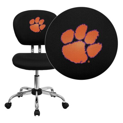 NCAA Embroidered Mid-Back Mesh Task Chair NCAA Team: Clemson Arms: Not Included