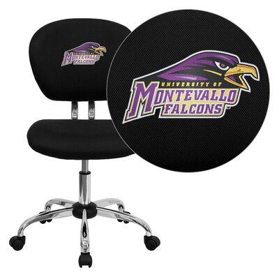 NCAA Embroidered Mid-Back Mesh Task Chair NCAA Team: Montana State Arms: Not Included image