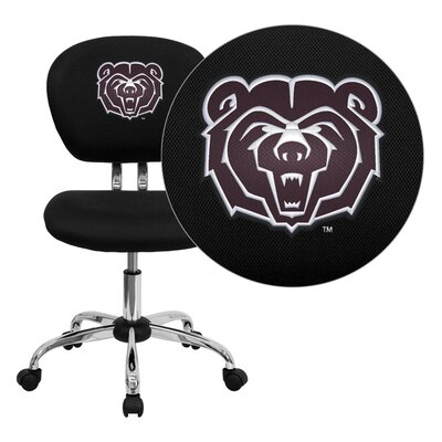 NCAA Embroidered Mid-Back Mesh Task Chair NCAA Team: Missouri State Arms: Not Included image