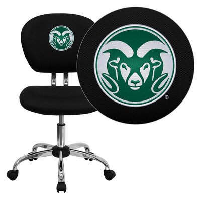 NCAA Embroidered Mid-Back Mesh Task Chair NCAA Team: Colorado State Arms: Not Included image