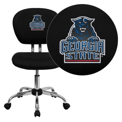 NCAA Embroidered Mid-Back Mesh Task Chair NCAA Team: Georgia State University Panthers Arms: Not Included image