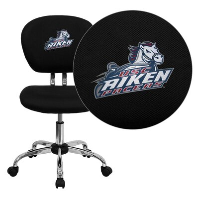 NCAA Embroidered Mid-Back Mesh Task Chair NCAA Team: South Carolina Aiken Pacers Arms: Not Included image