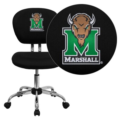 NCAA Embroidered Mid-Back Mesh Task Chair NCAA Team: Marshall Arms: Not Included image