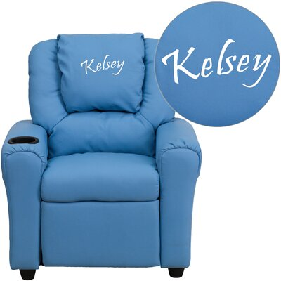 Personalized Kids Recliner Upholstery Type - Color: Vinyl - Light Blue image