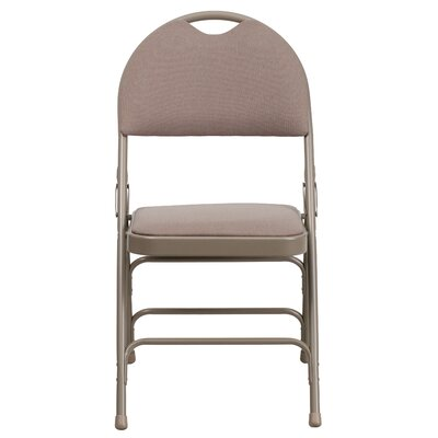 Hercules Series Personalized Folding Chair with Easy-Carry Handle Color: Beige image