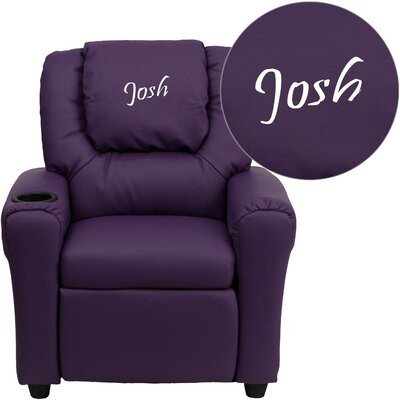Personalized Kids Recliner Upholstery Type - Color: Vinyl - Purple image