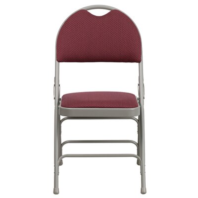 Hercules Series Personalized Folding Chair with Easy-Carry Handle Color: Burgundy image