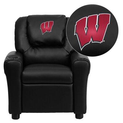 NCAA Kid's Recliner Material: Vinyl NCAA Team: Wisconsin Badgers