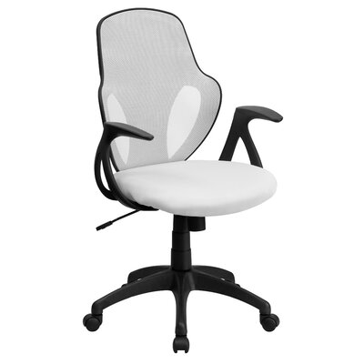 Mid-Back Executive Mesh Chair with Nylon Base Color: White Product Picture 2919