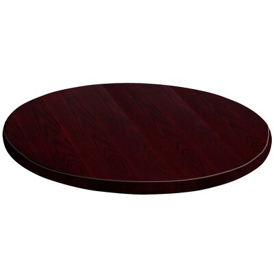 Round Veneer Table Top Size: 24, Finish: Mahogany