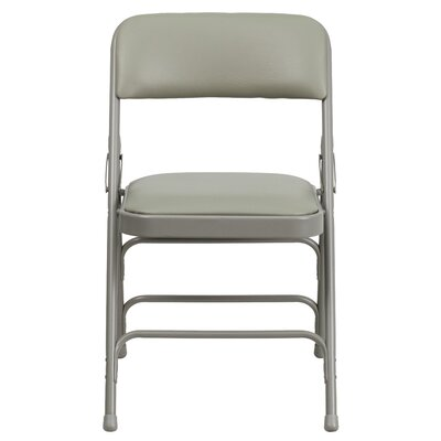Hercules Series Personalized Vinyl Upholstered Metal Folding Chair image