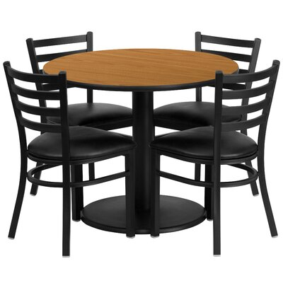 Neelam 5 Piece Dining Set Finish: Natural