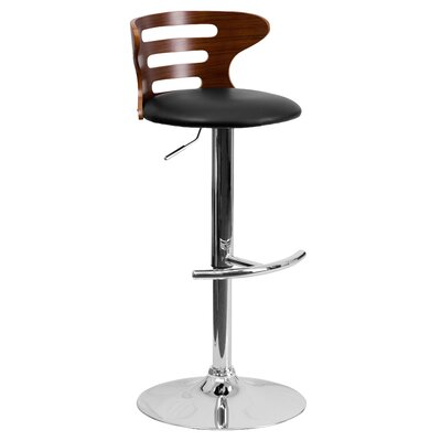 Catina Adjustable Height Swivel Round Seat Bar Stool