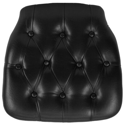 Hard Tufted Vinyl Chiavari Chair Cushion Color: Black
