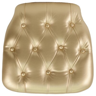 Hard Tufted Vinyl Chiavari Chair Cushion Color: Gold