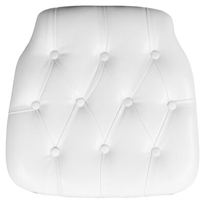 Hard Tufted Vinyl Chiavari Chair Cushion Color: White