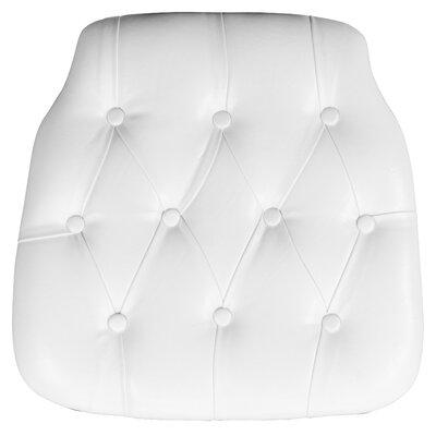 Hard Tufted Vinyl Chiavari Chair Cushion Color: White