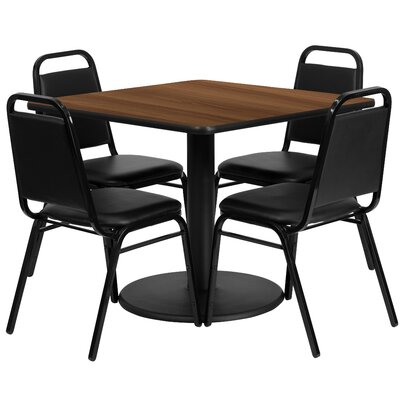 Ke 5 Piece Dining Set Finish: Walnut
