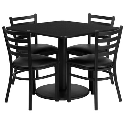 Hao 5 Piece Dining Set Finish: Black