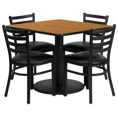 Hao 5 Piece Dining Set Finish: Natural