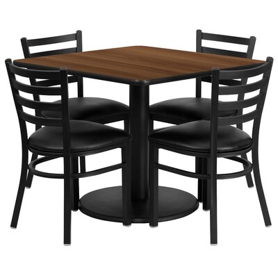 Hao 5 Piece Dining Set Finish: Walnut