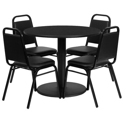 Nicklas 5 Piece Dining Set Finish: Black