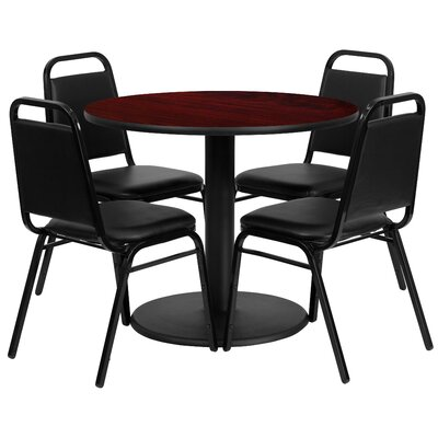 5 Piece Dining Set Finish: Mahogany