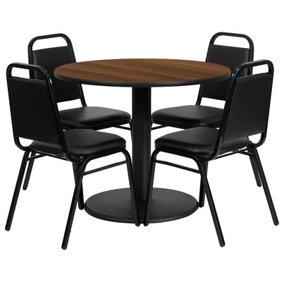 Nicklas 5 Piece Dining Set Finish: Walnut