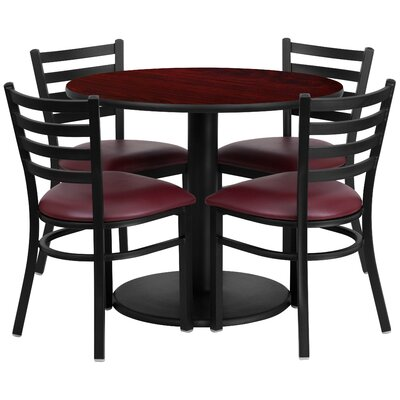 Peng 5 Piece Dining Set Finish: Mahogany