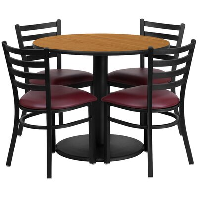 5 Piece Dining Set Finish: Natural