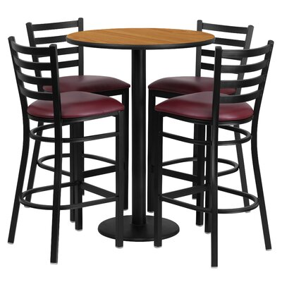 Aniket 5 Piece Pub Table Set Finish: Natural